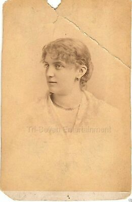 1878 Cabinet Card of Young Woman by Famous Portrait Photographer Napoleon Sarony