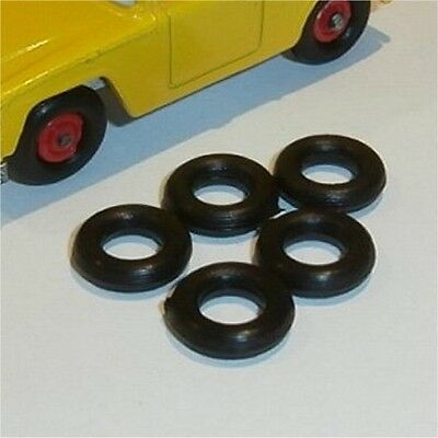 Matchbox Lesney 18 e Field Car set of 5 Tyres incl spare Tire Pack #66