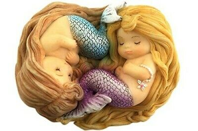 Miniature Dollhouse FAIRY GARDEN - Sleeping Little Mermaid Friends - Accessories
