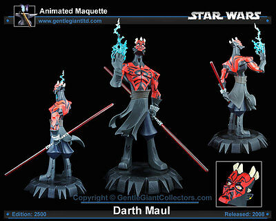 STAR WARS Animated GENTLE GIANT DARTH MAUL STATUE MAQUETTE Figure Clone