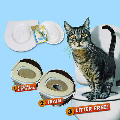 New Kitty Cat Toilet Training Kit Pee Potty Urinal Pet Litter Tray with Catnip