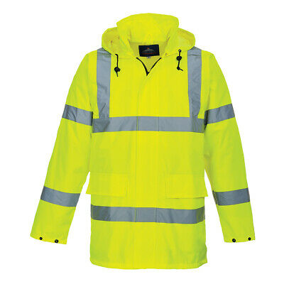 Hi-Vis Lite Rain Jacket Reflective Waterproof Windproof M-3XL, Portwest US160