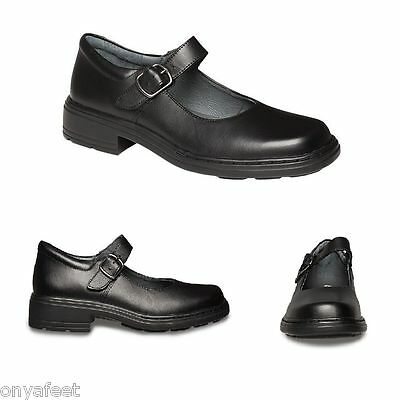 Girls Clarks Girl Kids Youth Intrigue Jnr School Mary Jane Leather Strap Shoes