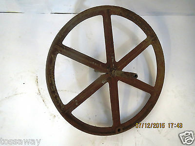 "Antique Wagon Wheel 15"" Rusted Patina"