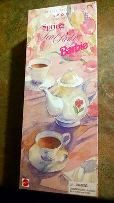 1997 Avon Spring Tea Party Barbie Doll Special Edition 3rd in Series#18658 NRFB