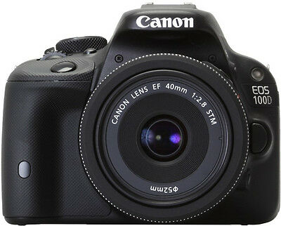 Canon EOS 100D 18.0 MP SLR Camera with 40mm STM Lens Kit Black