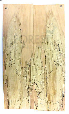 Electric guitar bookmatched top spalted maple stock 63 unique top