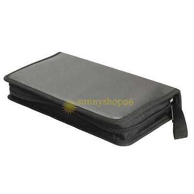 Portable 80 Sleeve Disc CD VCD DVD Storage Bag Wallet Holder Case Box Organizer