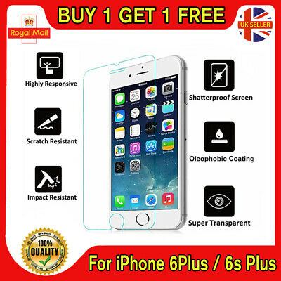 GENUINE TEMPERED GLASS FILM SCREEN PROTECTOR FOR APPLE IPHONE 6s PLUS