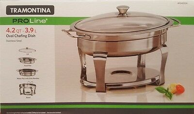 Tramontina ProLine S/Steel Commercial 4.2Qt./3.9L Chafing Dish Bain Maries NEW
