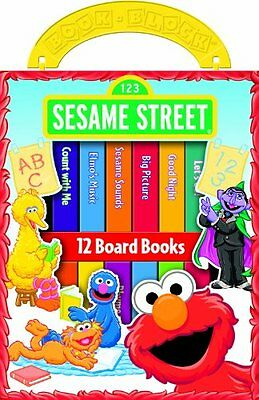 First Library Sesame Street Board Book Colorful Story Baby Toddler Early Books