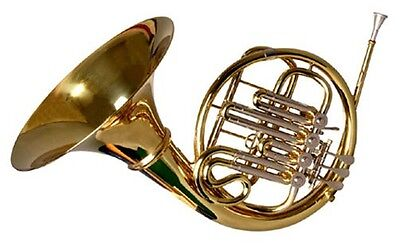 BRAND NEW SINGLE FRENCH HORN w/CASE.WARRANTY+APPROVED