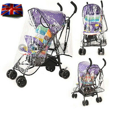 Baby Stroller Raincover Buggy Pushchair Pram Transparent Rain Wind Protection