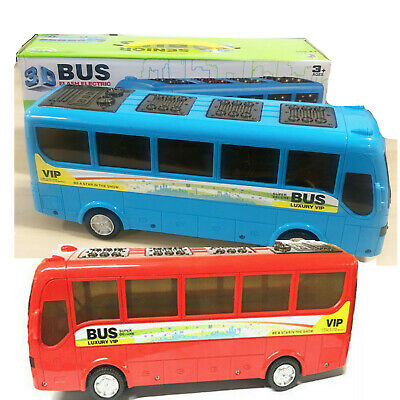 Bus Loco Kids Fun Toys Active Learning Shapes Colors Push Red Blue Educational