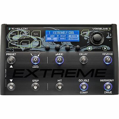 TC-Helicon Voicelive 3 EXTREME Vocal FX Guitar Effects Looper Pedal