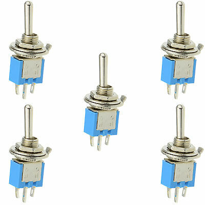 5 x On/On Sub Miniature Small Mini Toggle Switch SPDT