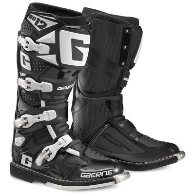 NEW Gaerne 2018 Mx SG-12 Black Euro Enduro Dirt Bike Racing Motocross Boots