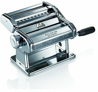 Marcoto Atlas 150 Pasta Machine Light Alloy, Silver Wellness
