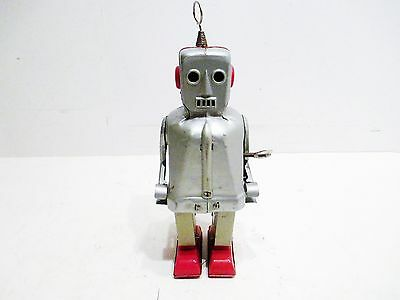 Sparky Robot Wind-Up Near Mint Condition Works Good Made In Japan