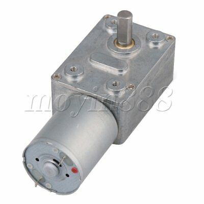 12V 260rpm High-torque Drive Pmdc Worm Right Angle Geared Motor Turbo Gear Motor