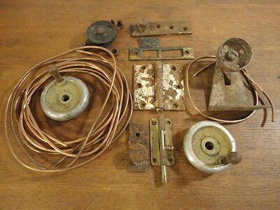 Vintage Lot of Architectural Hardware Salvage Rusty Old Barn Steampunk Find hd2