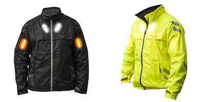 Visijax Commuter HiViz High Visibility LED Cycling Jacket with Indicator Lights