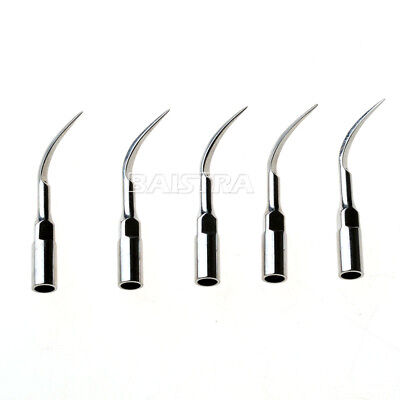5x Dental Perio Scaling Tips P1 Silver fit EMS Woodpecker Ultrasonic Scaler P1