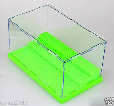 x1 Green BOX for LEGO toy display Case minifigure 3 deck collector assemble box