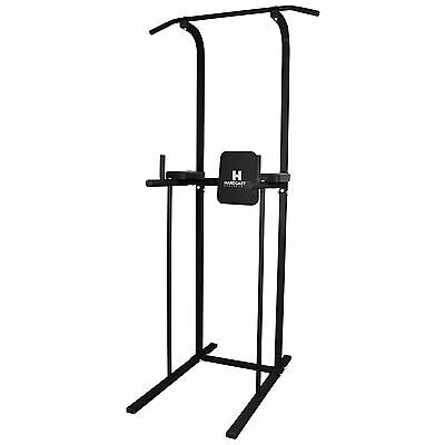 Hardcastle Gym Power Tower & Dip Station Pull/Chin Up Bar Knee/Leg Raise Workout