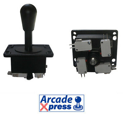 Joystick Americano Arcade style black for MAME and Arcade Game Cabinet 4/8 way
