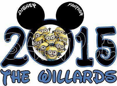 Personalized Disney Mickey Minnie Mouse minions Cruise Stateroom Door Magnet