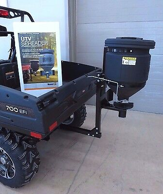 UTV BROADCAST SPREADER for Polaris Ranger XP HD Crew Buyers SAM UTVS16 Rock Salt