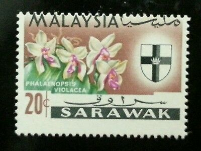 Malaysia Definitive Orchids 1965 Flower (stamp) MNH *Error *Perf Shift *Rare