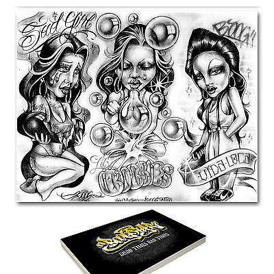 88 x A3 Boog Tattoo Flash Designs - Brand New Factory Sealed! RRP £120