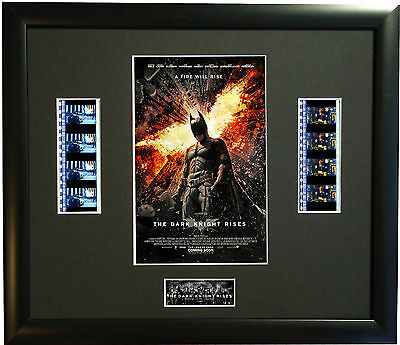 THE DARK KNIGHT RISES - 2012 35mm FILM CELL FRAMED MOVIE GREAT GIFT
