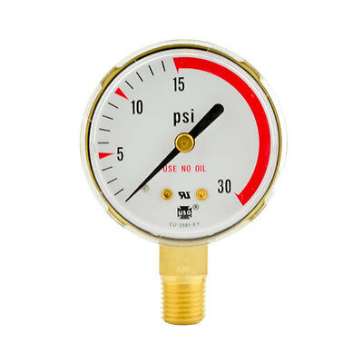 "2"" x 30 PSI Welding Regulator Repair Replacement Gauge For Acetylene"