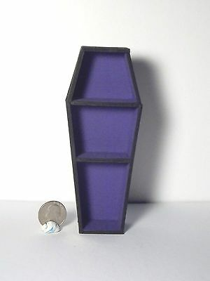 Dollhouse Miniature Halloween Wood Coffin Bookcase P 1:12 G92 Dollys Gallery