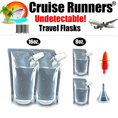 Cruise Flask Kit 5 Pack Rum Runners Sneak Smuggle Alcohol Liquor  Booze Wine