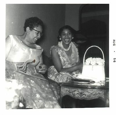 Vintage African American Photo Beautiful Pretty Women Laughing Black Americana