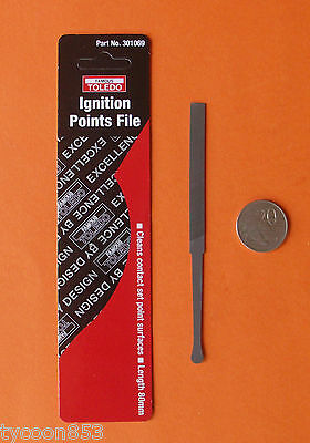 IGNITION CONTACT POINTS FILE DOUBLE-CUT 8mm x 140mm FAMOUS TOLEDO QUALITY