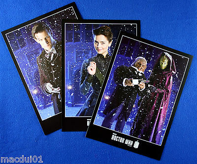 3 Collector's Cards From Doctor Who Magazine 455 Christmas Issue January 2013