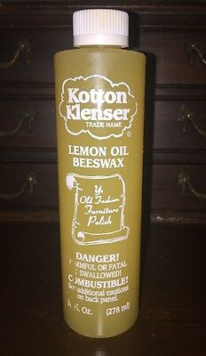 Lemon Oil Beeswax  KOTTON KLENSER 10 OZ Antique Wood & Mental Polish Restorer