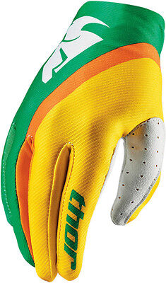 Thor S6 Women's Void Gloves # Green/Yellow X-Large 3331-0126