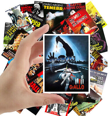 "Stickers sheet [8 stkrs 2.5""x3.5""ea] Vintage Movie Poster Horror Zombie 7113"