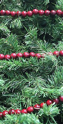 "Kurt S. Adler 9' Long 1/2"" Burgundy Wood Bead Garland Christmas Tree Garland"