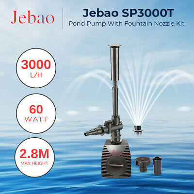 Jebao SP3000 Feature Nozzles included, 3000 L/hr Small feature or fish pond pump
