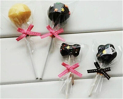 100 PCS Cute 8 x 15cm Lollipops Packaging Cellophane Bags Cookie Plastic Bag
