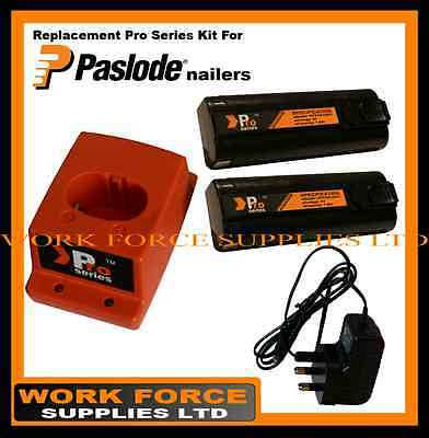2 x ProSeries Batteries/Charger Set for Paslode IM350/IM65A/IM65/IM250/IM50