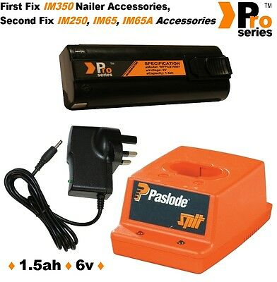 Paslode IM250 Replacement Pro Series charger set(1 x battery/mains/charger base)