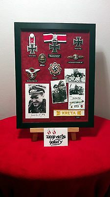 """GUNTHER RALL KC + Swords 275 Vics Signed 12x16"""" Montage DISPLAY in Frame"""